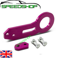 PURPLE ALLOY UNIVERSAL REAR TOW HOOK Fit Subaru Mitsubishi VW Toyota Honda MG