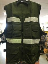 1605JLS Safety Vest Military Green  With Pockets And Zipper One Size Fits All