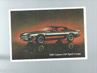 1980 Chevrolet CAMARO Z28 / Z-28 Post Card POSTCARD