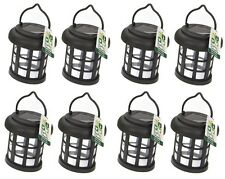 8 x Garden Solar Power Hanging Light LED Outdoor Lighting Black Tree Ornament