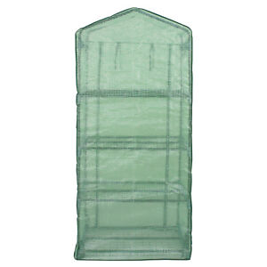 4 Tier Mini Greenhouse with Reinforced Cover Green House Portable Yard Indoor