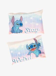 🌺New Disney Lilo & Stitch- Set Pillowcase- Stay Weird!