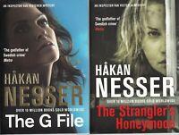 Hakan Nesser 2 Book set The G Files, The Strangler's Honeymoon Paperback