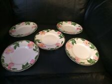 Vintage Desert Rose Franciscan Earthenware China 5 Bread And Butter Plates