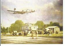 Aviation Art Greetings Card featuring a  B-17  8th AF  100th BG Thorpe Abbotts