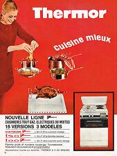PUBLICITE  1968   THERMOR  cuisinière  gazinière