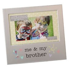 ME AND MY BROTHER  ALUMINIUM PHOTO PICTURE FRAME GIFT 6 X 4 - BY JULIANA