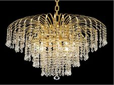"Palace Lexington 21"" 6 light Crystal Chandelier Light Gold Ceiling Light"