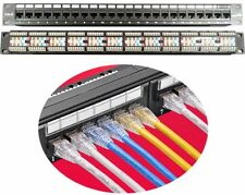 "19"" (19 inch) 24 Port Patch Panel  CAT6/CAT-6 Network 1U Rackmount RJ45  NEW"