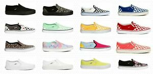 VANS ASHER SLIP ON WOMENS SHOES SNEAKERS CASUAL SKATE STYLE CANVAS NIB