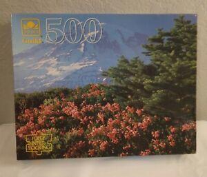 VINTAGE GOLDEN GUILD 500 PIECE PUZZLE MT. RAINIER, WASHINGTON, NEW OLD STOCK