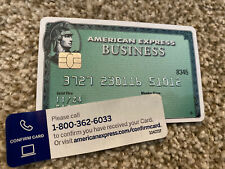 American Express Centurion Card Green Business Non Active Collector Edition Visa