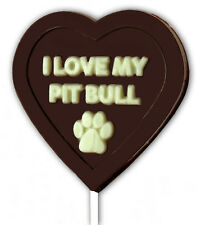 I Love My Pit Bull Chocolate Lollipop Mold