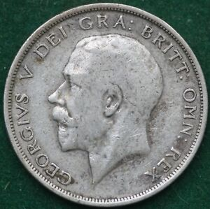 King George V 1919 Silver Half Crown coin