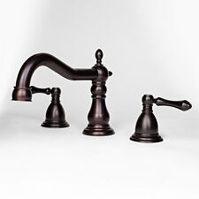 Classic Roman Oil Rubbed Bronze Widespread Bathroom Vanity Sink Faucet Lavatory