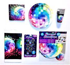 73 tlg Disco Fever  Party-Set 70er Feier Becher Teller Servietten Buttons