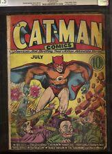 CATMAN #3 CGC 1.5 Hitler & Stalin cover! Scarce!