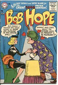 ADVENTURES OF BOB HOPE #40--19596-DC-SWAMI COVER AND STORY--HIGHER GRADE--RARE