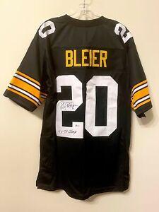Rocky Bleier Signed Pittsburgh Steelers Jersey Beckett BAS COA FREE SHIP Auto