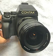 Contax 645 Medium Format film camera with Carl Zeiss Distagon 45mm f2.8 lens