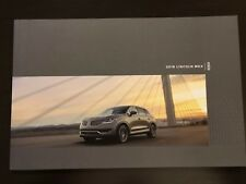 2018 LINCOLN MKX 34-page Original Sales Brochure