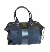 """Cole Haan 19"""" Nylon / Pebble Leather / Fabric Duffle Bag / Weekender  ~ Carry-On"""