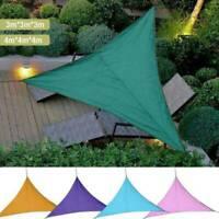 3M/4M Sun Shade Sail Awning Canopy Waterproof UV Block Sunscreen Garden bara