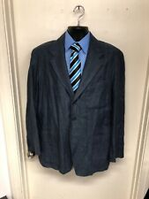 Paul Smith Blazer Size Medium Blue 100% Linen I-204