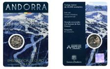 """2 euros - Andorra """"esquí alpino"""" 2019"""