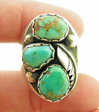 Vintage Old Pawn Signed M Chuyat Green Royston Turquoise Mens Ring Sz 11 - 19.8g