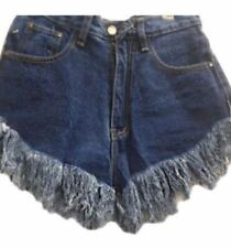 Punny High Waist Denim Short (S, M, L, XL)