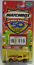 Matchbox Superfast Across America Indiana Chevy Corvette 1997 New