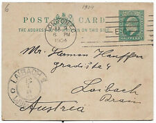 New listing Great Britain 1904 Kevii 1/2d postal stationery to Slovenia ps.55