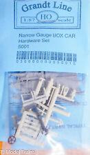 Grandt Line HO #5001 Narrow Gauge Box Car Hardware Set (Plastic Parts)