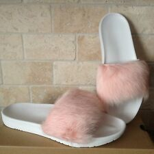 UGG Royale Baby Pink Toscana Fluffie Slide Slippers Sandals Size US 10 Womens