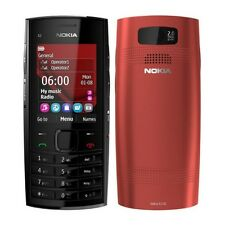 Genuine Nokia X2-02 Dual Sim Red Mobile with Warranty