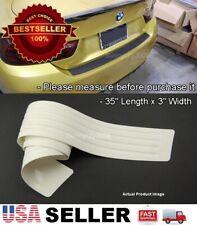 """35"""" x3"""" White Rear Bumper Rubber Guard Cover Sill Plate Protector For VW Porsche"""