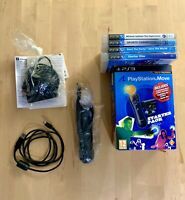 *RARE CIB* Sony PS3 Playstation Move Starter Pack Bundle + 3 Games