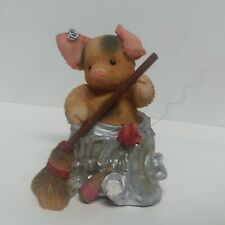 This Little Piggy by Enesco Housework Stinks Figurine Misprint