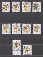 10 x Mi 1349 , 150 Jahre Mainzer Carneval