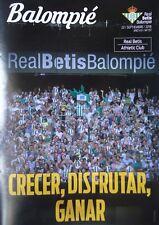 Programm Spanien 2018/19 Real Betis Balompie - Athletic Club Bilbao