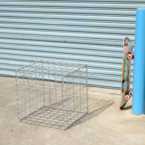 Gabion Cage 525mm L x 525mm W x 525mm H, 75x75mm, AL-TEN Garden Bench, Edging