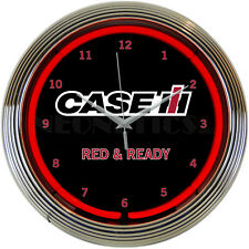 Real Neon clock sign CaseIh case Ih farm supply tractor wall lamp light