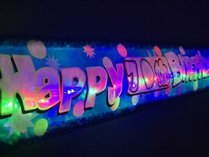 Happy 70th birthday blue banner Personalised party Banners decorations bunting