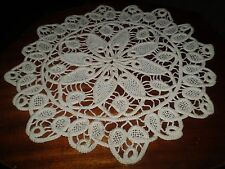 Vintage Hand-made Crochet Round Doilies Diameter 12.5 ''