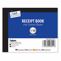 Receipt Book Half size - Carbon Sheets Small Book Stationary Invoice Shop Office