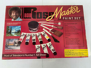 Bob Ross Joy Of Painting Master Oil Paint Kit With VHS