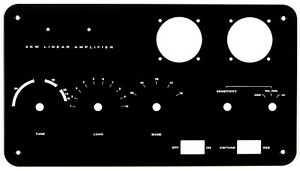 Heathkit Black SB-220 Amplifier New Aluminum Front Panel