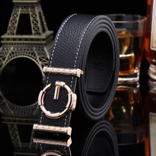GGenuine Leather Thin Luxury Belts Fashion Men Gucci Logo Pattern For Jeans 1.49
