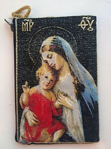Virgin Mary and Baby Jesus, Tapestry Bag, Zippered Purse